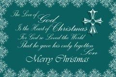 El corazón de la Navidad/del verde Ilustración del Vector