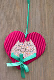 El corazón de la pimienta de la decoración Fotos de archivo libres de regalías