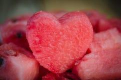 El corazón de la sandía Foto de archivo libre de regalías