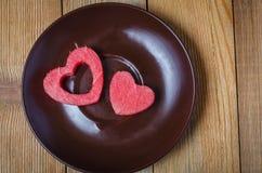 El corazón de la sandía Foto de archivo