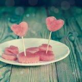 El corazón de la sandía Fotografía de archivo