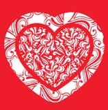 El corazón de la tarjeta del día de San Valentín abstracta ilustración del vector