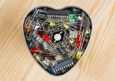 El corazón de la tecnología electrónica Fotografía de archivo libre de regalías