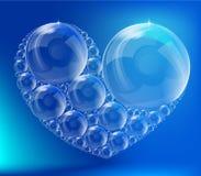 El corazón de las burbujas Imagenes de archivo