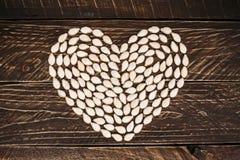 El corazón de las semillas Fotografía de archivo