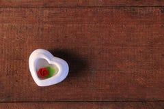El corazón de se levantó Foto de archivo libre de regalías