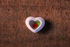 El corazón de se levantó Fotografía de archivo