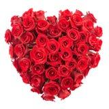 El corazón de se levantó Imagen de archivo libre de regalías