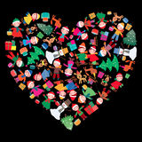 El corazón del Año Nuevo ilustración del vector