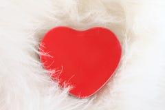 El corazón del amor Tarjeta de la tarjeta del día de San Valentín Fotografía de archivo libre de regalías