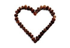 El corazón del café foto de archivo libre de regalías