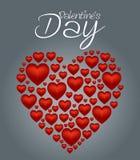 El corazón del día de tarjetas del día de San Valentín fijó 2 Imágenes de archivo libres de regalías