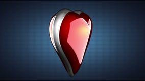 El corazón del lazo gira en fondo azul stock de ilustración