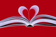 El corazón del libro Imagen de archivo