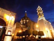 El Corazón del Pueblo. En esta fotografía muestra mi ciudad natal, El Santuario del Señor de La Piedad. La cual tienen la 3er cúpula más grande de Stock Image