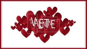 El corazón del vector sea mi tarjeta del día de San Valentín Fotos de archivo libres de regalías