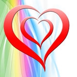 El corazón en fondo muestra a Art Design Or Fotos de archivo