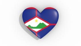 El corazón en la bandera de los colores de los pulsos de Sint Eustatius coloca ilustración del vector
