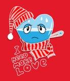 El corazón enfermo vacío necesita más amor Fotografía de archivo libre de regalías