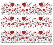 El corazón florece el fondo Imagen de archivo