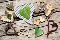 El corazón forma la colección Foto de archivo libre de regalías