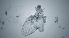 El corazón humano es formado haciendo girar partículas stock de ilustración