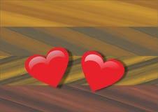El corazón para amados Fotografía de archivo