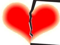 El corazón quebrado. Fotografía de archivo