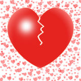 El corazón quebrado significa problema de los pares o Fotografía de archivo libre de regalías