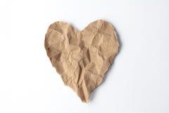 El corazón recicla el papel Imagen de archivo libre de regalías