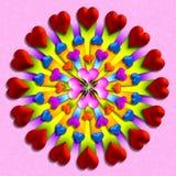 El corazón repartió 3 ilustración del vector