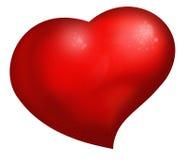 El corazón rojo grande Foto de archivo libre de regalías