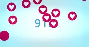 el corazón 100.000 tiene gusto en medios sociales libre illustration