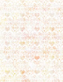 El corazón y el pájaro sucios suaves del vintage Wallpaper el modelo en pastel imagen de archivo