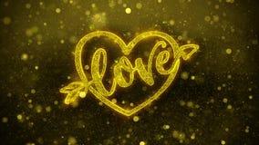 El coraz?n d?a de San Valent?n del amor desea la tarjeta de felicitaciones, invitaci?n, fuego artificial de la celebraci?n ilustración del vector