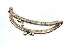 El corchete del metal para el cuero o la materia textil frunce, los bolsos, carteras Fotografía de archivo libre de regalías