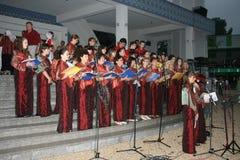 El coro religioso fuera de una mezquita Imagenes de archivo