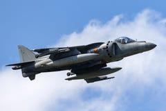 El corredor de cross español de Española McDonnell Douglas EAV-8B de la armada de la marina de guerra salta los aviones de jet fotos de archivo libres de regalías