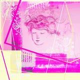 El corredor rosado para las redes sociales para las mujeres diseña elementos ama corazones libre illustration