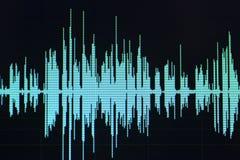 El corregir audio del estudio de la onda acústica fotografía de archivo
