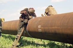 El corregir del tubo de gas Foto de archivo libre de regalías