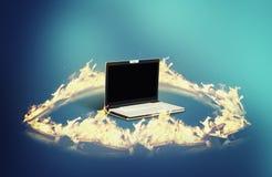 El cortafuego del ordenador portátil fotografía de archivo