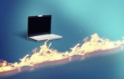 El cortafuego del ordenador portátil fotos de archivo libres de regalías