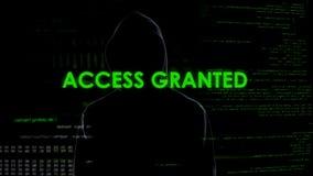 El cortar concedido, acertado del acceso, ataque cibernético en datos personales o cuenta foto de archivo libre de regalías