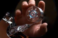 El cortar de HDD Fotografía de archivo