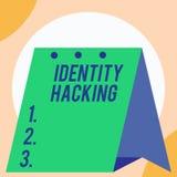 El cortar de la identidad del texto de la escritura Criminal del significado del concepto que roba su información demonstratingal ilustración del vector