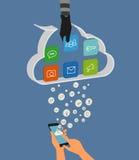 El cortar de la nube Imagen de archivo