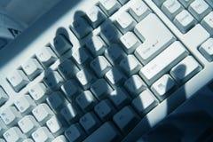 El cortar del ordenador Fotografía de archivo