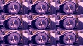El cortar y el moler de la base titanium de la corona del contrafuerte para el implante dental almacen de metraje de vídeo