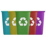 El corte del papel de la papelera de reciclaje es puede reciclando a la basura para rodear Fotos de archivo